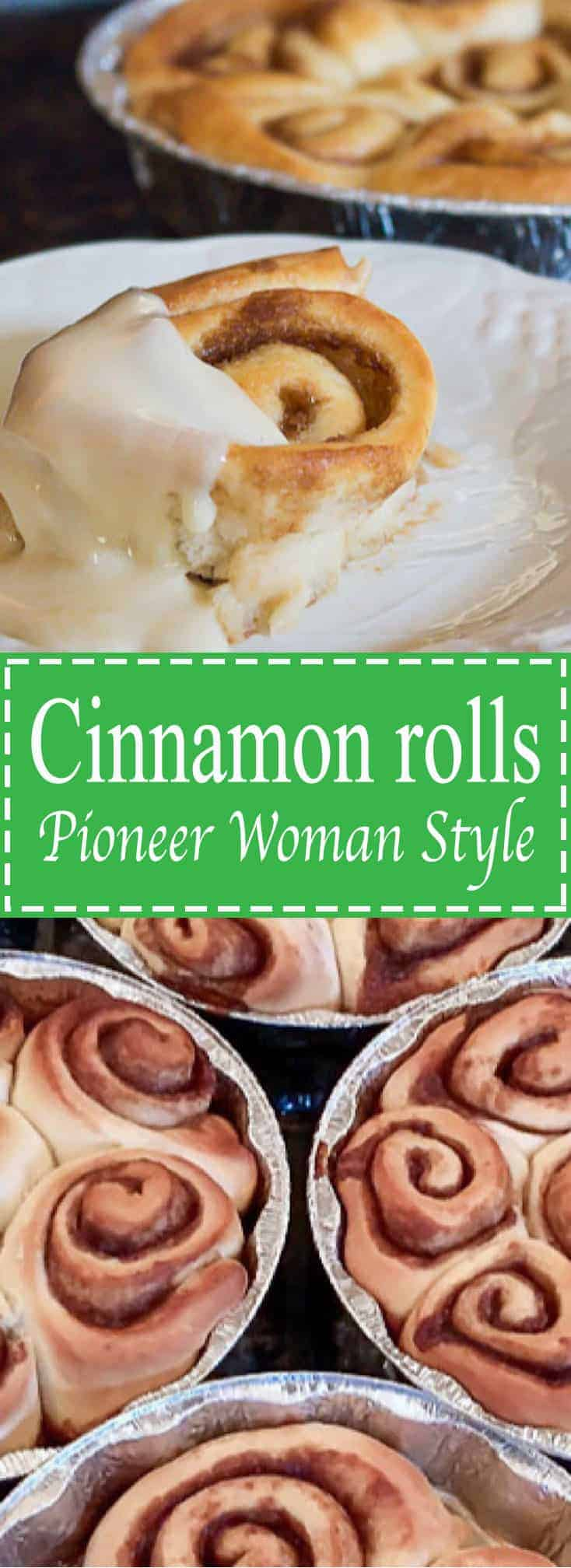 Cinnamon Rolls Pioneer Woman Style - Soft and gooey, the best!