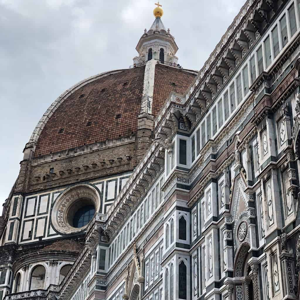 Cattedrale di Santa Maria del Fiore. The Duomo in Florence, Italy. Italian Gothic Style Cathedral built between 1292-1436.